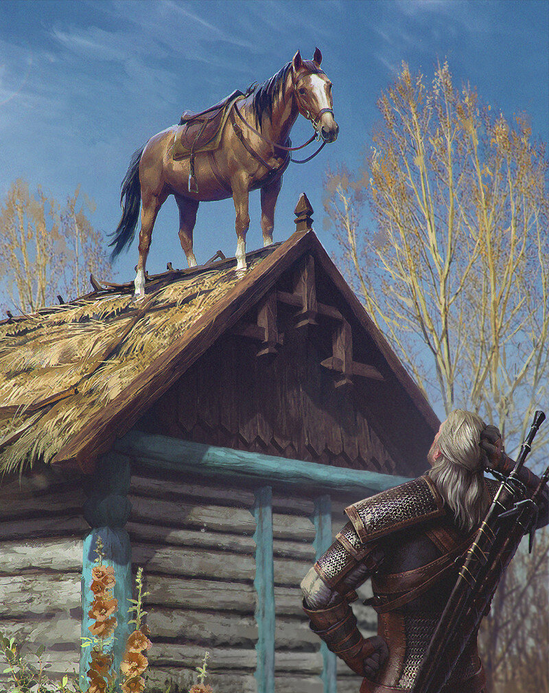 Roach's Gwent card artwork is a direct reference to her tendency to show up in odd places .