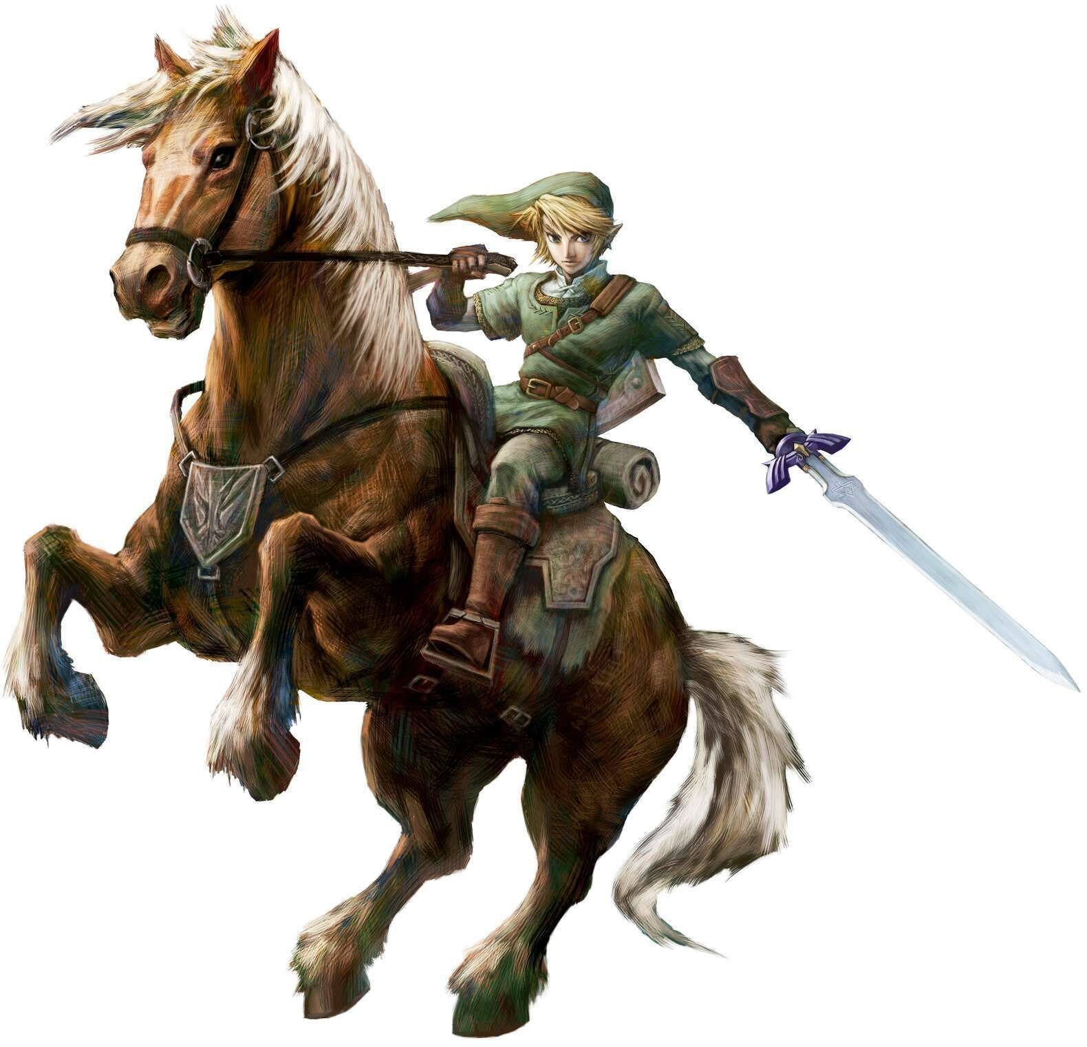 Official artwork of Link and Epona in  Twilight Princess