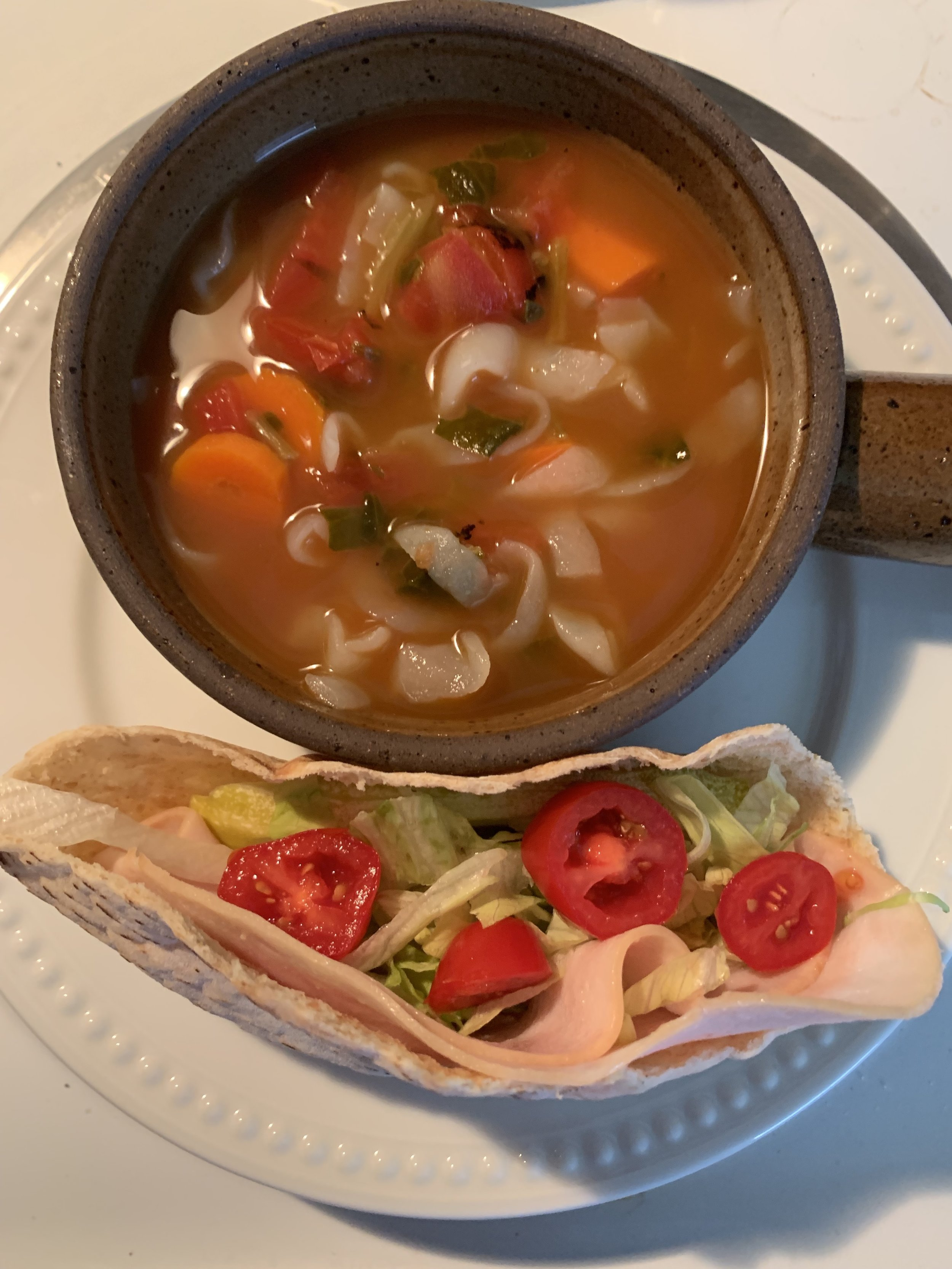 Lunch Idea! - You can never go wrong with soup and a sandwich…