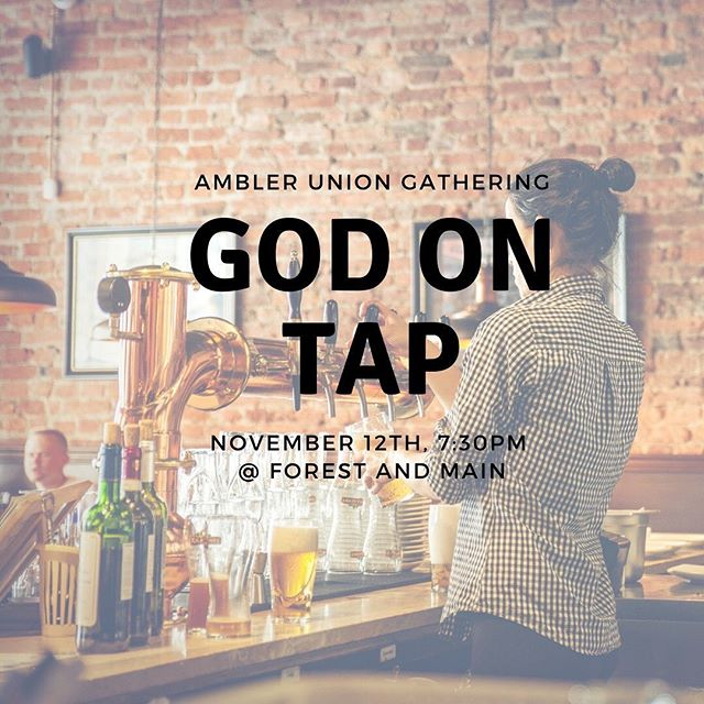 We're meeting!! After not having met all summer due to the closing of St. John, and that space along with it, we're going to gather this Tuesday, from 7:30-9pm for conversation, good beer (or whatever beverage you prefer), and reconnect. Join us at Forest and Main, just look for the table with out sign and you'll meet our new curator, Lindsay. @linds_bates  We can't wait to get started again!