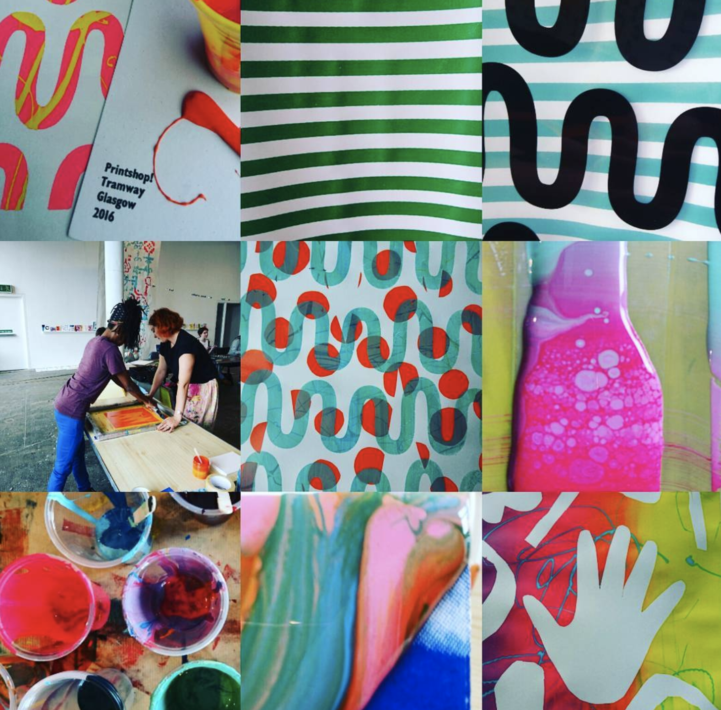 Workshop at Tramway with Zephyr and Ashton Screen Print