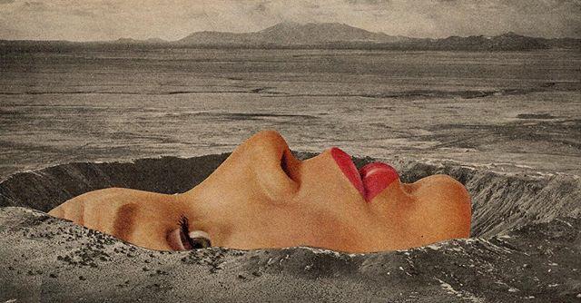 Peek-a-boo...? 👀 • by @mariisabazan 🔲 #AspenArtCollective ✖️ #GrayDigital ・・・ Crater face