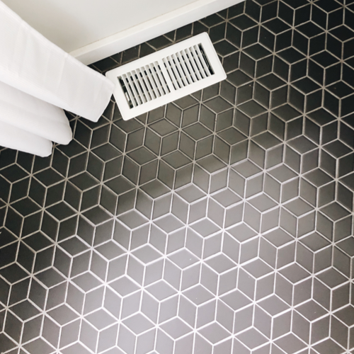 Geometric floor tile -