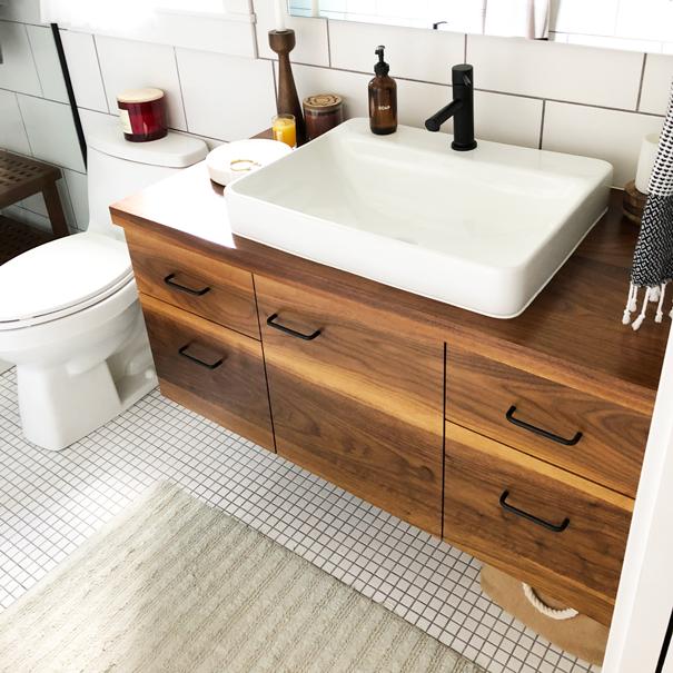 Custom-built vanity -
