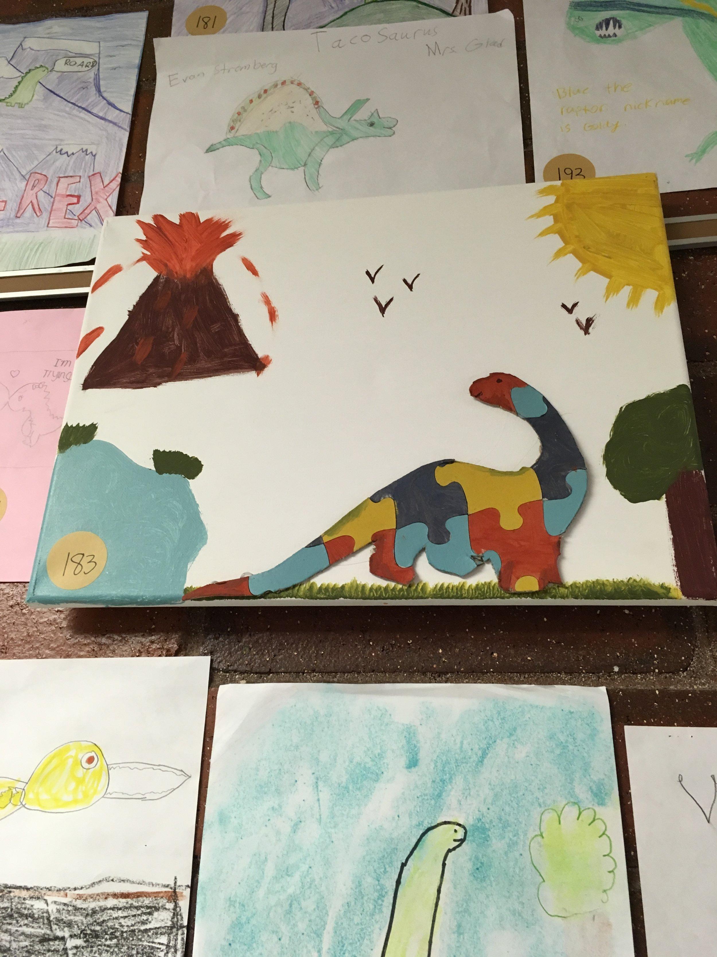 Art from Fox Hills Elementary art show