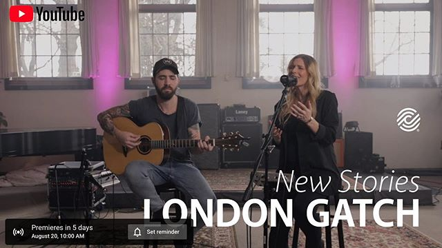 "London and Lance Gatch recently had the opportunity to share some of their songs at @ccli.global // Click the link in bio to reserve your spot for the premiere of the acoustic video for ""New Stories"" on August 20"