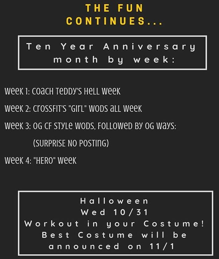 We're just over here trying to carve out some fun by pumpkin spicing up the programming for our anniversary month