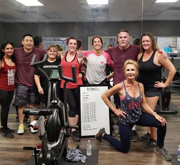 "Helllllooooo DECEMBER!!!! Don't let the holidays get you out of shape or out of routine! Stay strong 💪� take advantage of our ""Assaulted� classes available M-F. Find your group and keep each other accountable, like this fine group here �👌�"