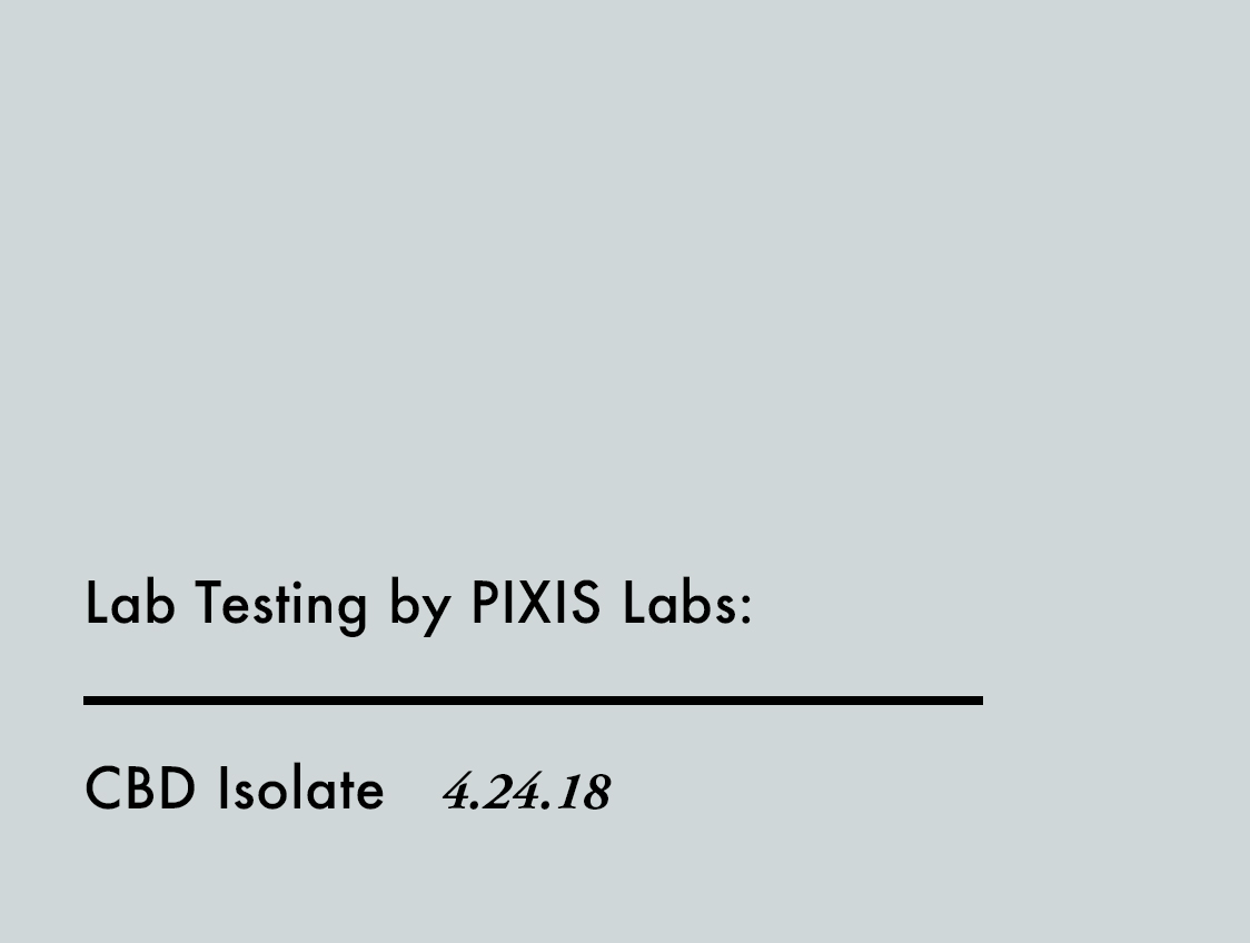 Lab Test CBD Isolate
