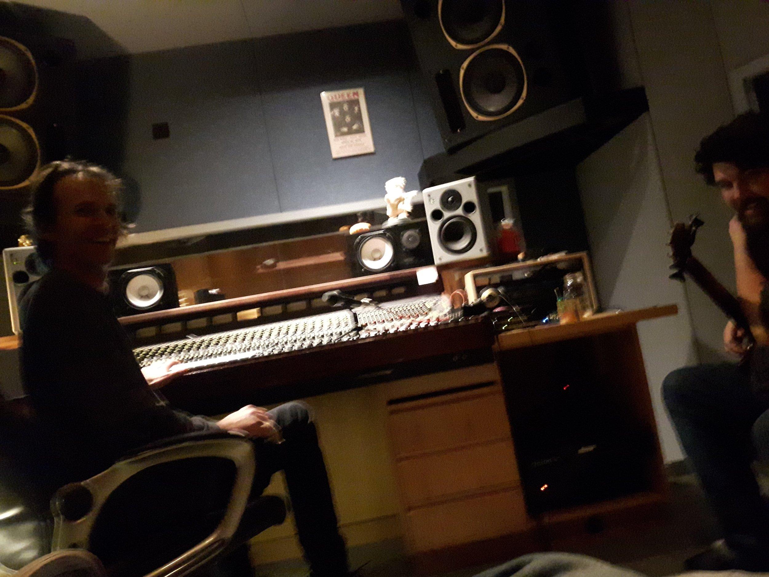 Lloyd and Darrell recording bass