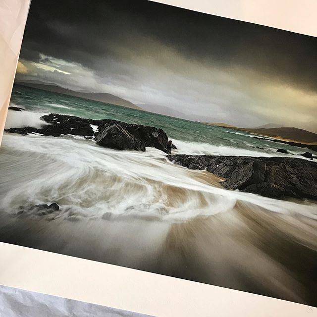 On its way to the framers.  New work shot on the Isle of Harris back in March of this.  #landscapephotographer #landscapephotography #mattswiftgallery #alpacameras #peakdistrictnationalpark #isleofharris #hahnemuehle