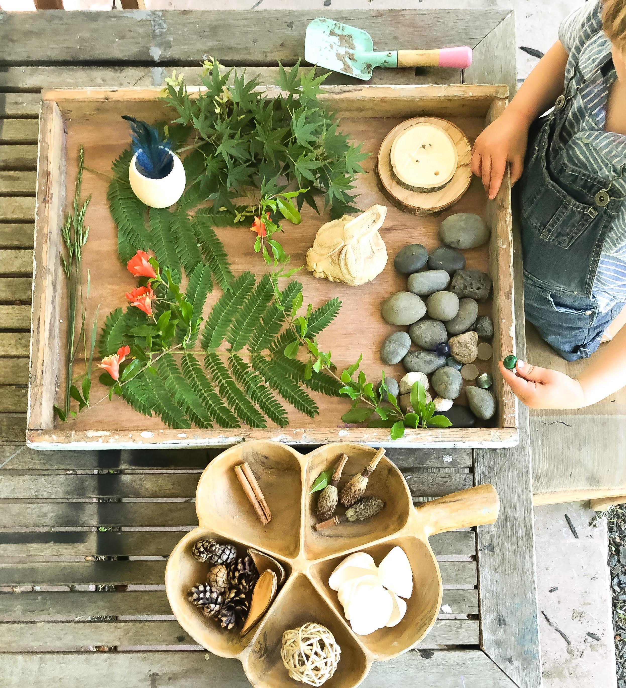 nature sensory tray