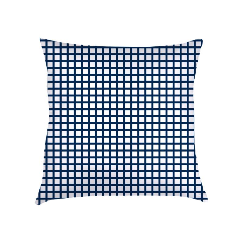 ALMOFADA mini grid (CAPA + RECHEIO) | azul marinho e branca | 50X50CM | R$ 159,00   CAPAS PODEM SER VENDIDAS SEPARADAMENTE - VALOR R$139,00