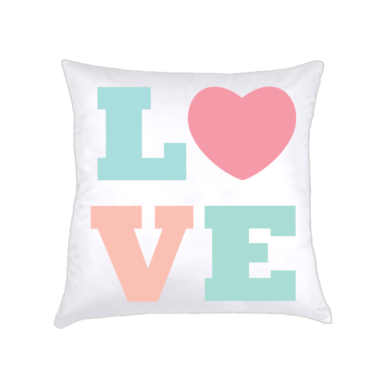 ALMOFADA LOVE (capa + recheio) | candy colors . rosa | 50x50cm | R$159,00  COD: KIDS_RS_0109   CApas podem ser vendidas separadamente - valor R$139,00