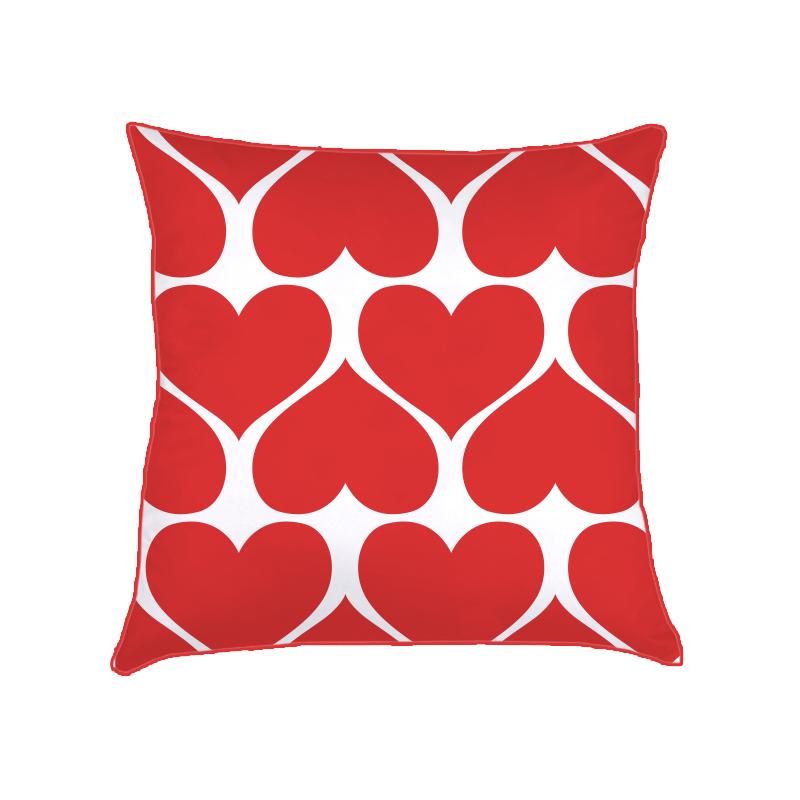 ALMOFADA corações (CAPA + RECHEIO) | vermelho vivo vermelho | 40x40CM | R$149,00  cod: KIDS_VM_0134   CAPAS PODEM SER VENDIDAS SEPARADAMENTE - VALOR R$129,00