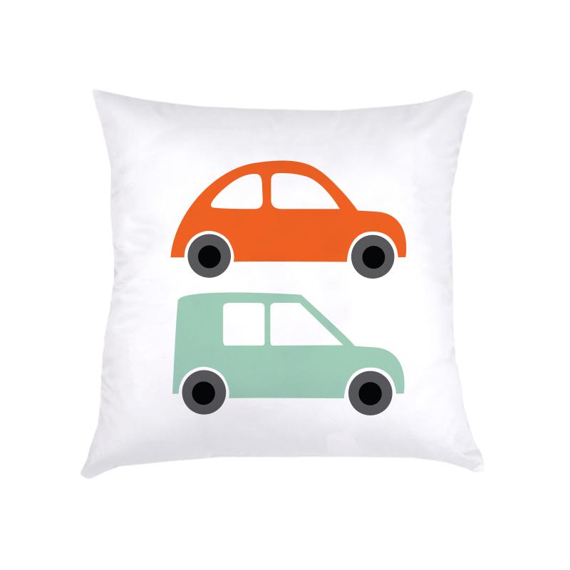ALMOFADA carros (CAPA + RECHEIO) | laranja + verde | 40x40CM | R$149,00    cod: KIDS_CL_0045   CAPAS PODEM SER VENDIDAS SEPARADAMENTE - VALOR R$129,00