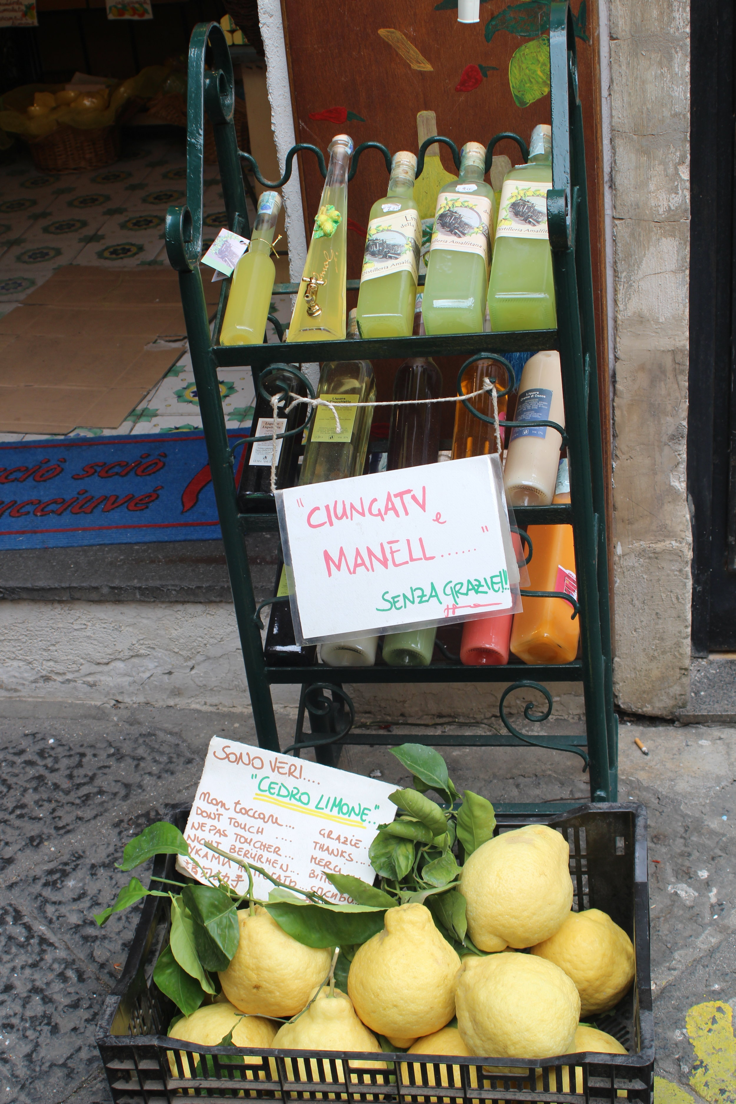 Everywhere you turn, limoncello for sale