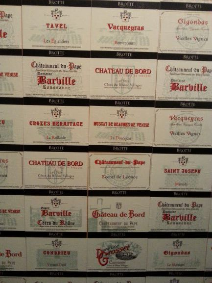 Some of the wines of Châteauneuf-du-Pape (photo: Brent Petersen)