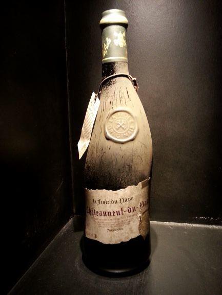 The curved La Fiole du Pape bottle (photo: Brent Petersen)