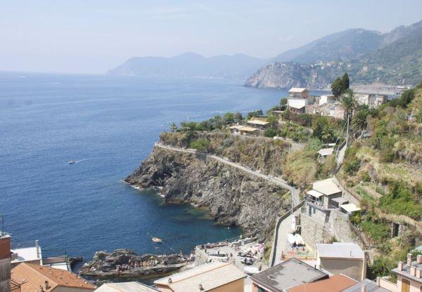 View from Apartment Rosa de Mare, Manarola, Italy