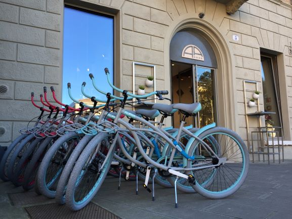 Bikes for guest use at  Hotel Annunziata