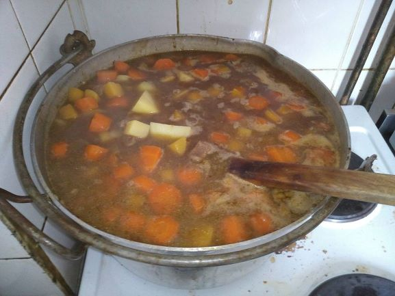 Scouse simmering away at the Baltic Fleet Pub, Liverpool.