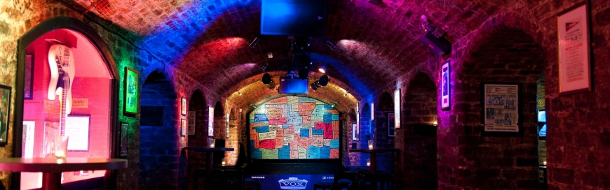 The Cavern Club, the world's most famous music club.