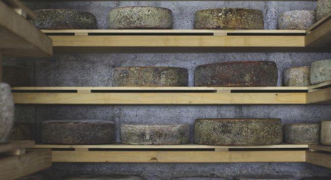 Hiša Franko's cheese cellar