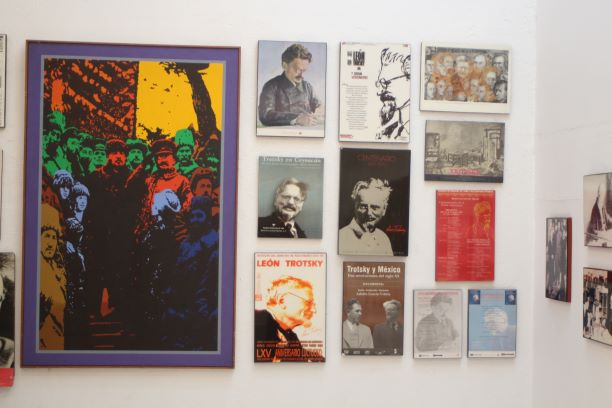 Posters at the Leon Trotsky Museum (photo: Brent Petersen)