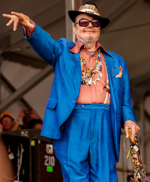 New Orleans icon Dr. John at Jazz Fest