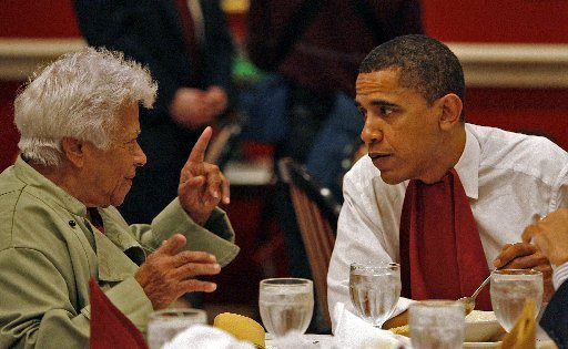 President Obama and Leah Chase share a meal at Dooky Chase's