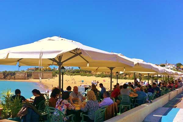 Blanca Paloma's amazing outdoor seating, Peurto Sherry, Spain