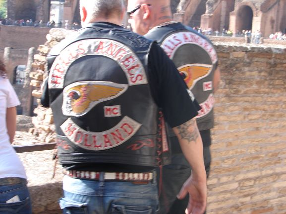 Even Hell's Angels want to visit the Colosseum (photo: Brent Petersen)