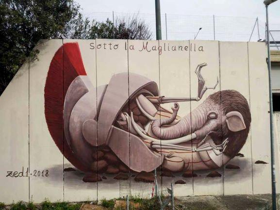 One of the M.U.Ro murals in Quadraro