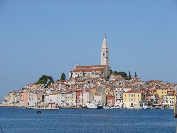 The Church of St. Euphemia towers above Rovinj, Croatia (photo: Brent Petersen)