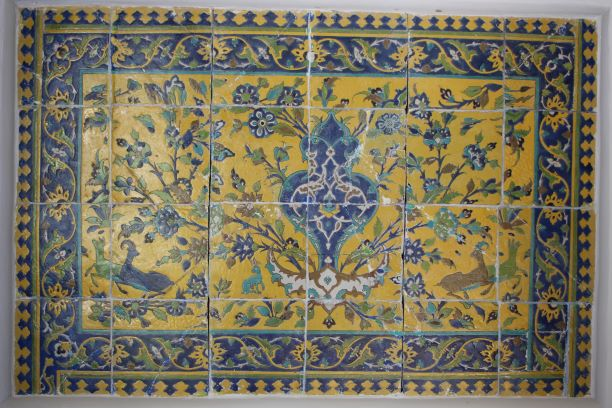 Some of the incredible tilework at Shangri-La