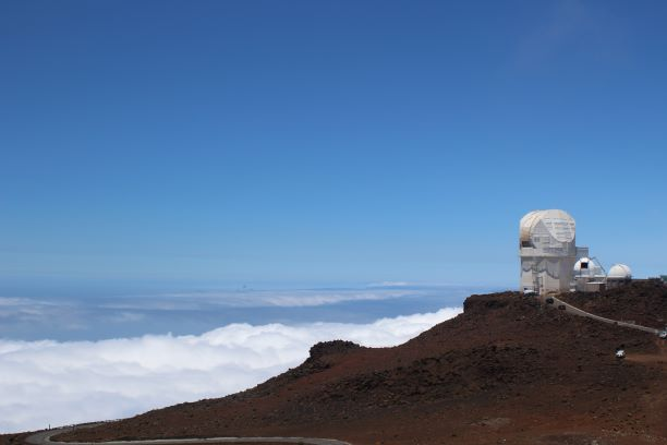 Observing the Observatory on a clear day (photo: Brent Petersen)