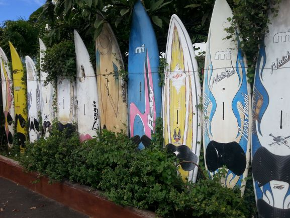 Surfboards in Paia, Maui (photo: Brent Petersen)