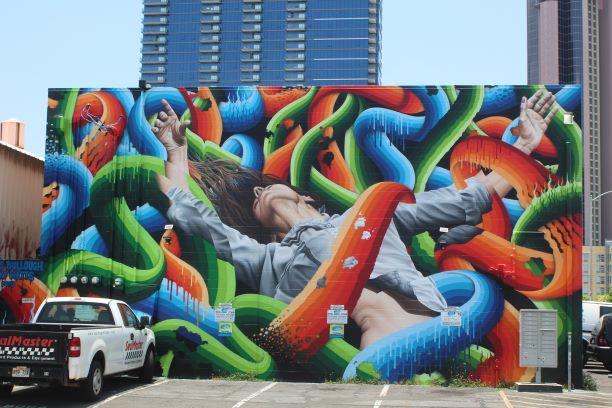 One of the many murals in Kaka'ako (photo: Brent Petersen)