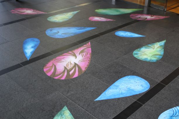 Charlotte Graham's temporary outdoor exhibition in Britomart, Auckland