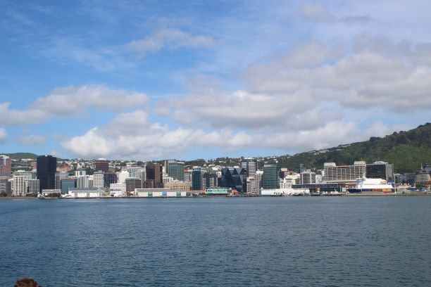 View of Wellington from the harbour