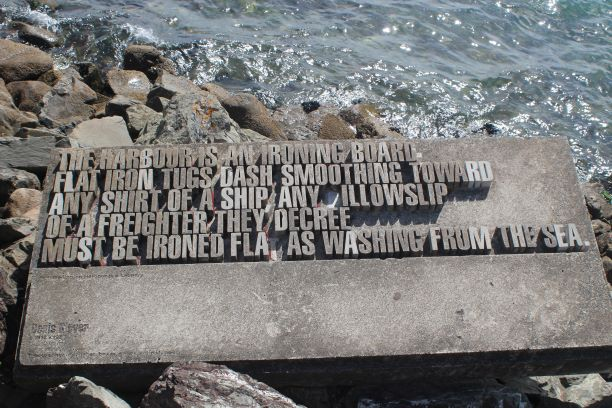One of the sculptures on the Wellington Writers' Walk (photo: Brent Petersen)
