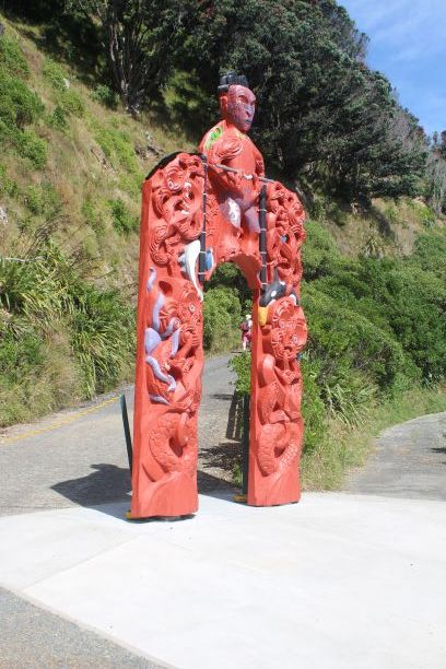 Entrance at Matiu/Somes Island (photo: Brent Petersen)