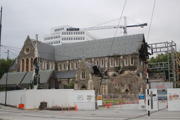 Christchurch Cathedral will be under renovation for years to come. (photo: Brent Petersen)
