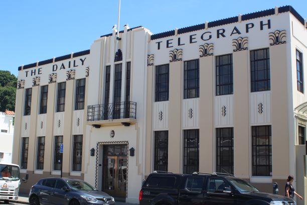 Art Deco Daily Telegraph building, Napier, New Zealand (photo: Brent Petersen)