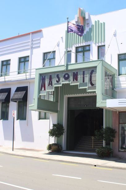 Masonic Art Deco building, Napier, New Zealand (photo: Brent Petersen)