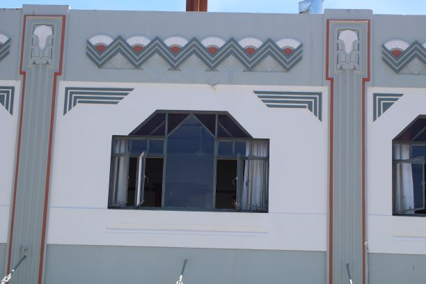 Classic Art Deco design work, Napier, New Zealand