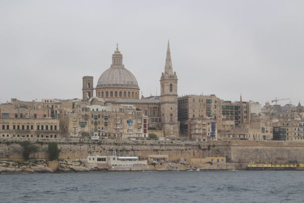 A view of Valletta from the ferry