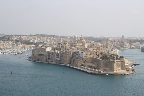 View from the ferry in Malta