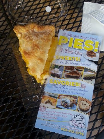 Lilikoi Mango Pie at the Right Slice, Lihue, Kauai
